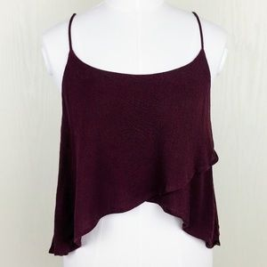 Urban Outfitters Kimchi Blue Maroon Crop Tank Top